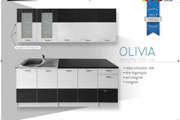 Divian OLIVIA sima nyílós elemes