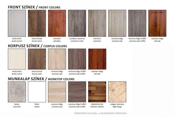 Vertex Alíz elemes színek