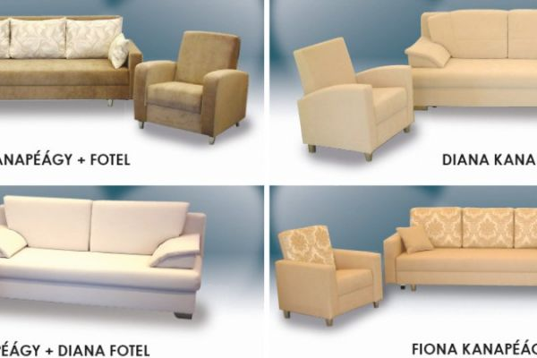 Sofart karos kanapék fotellal